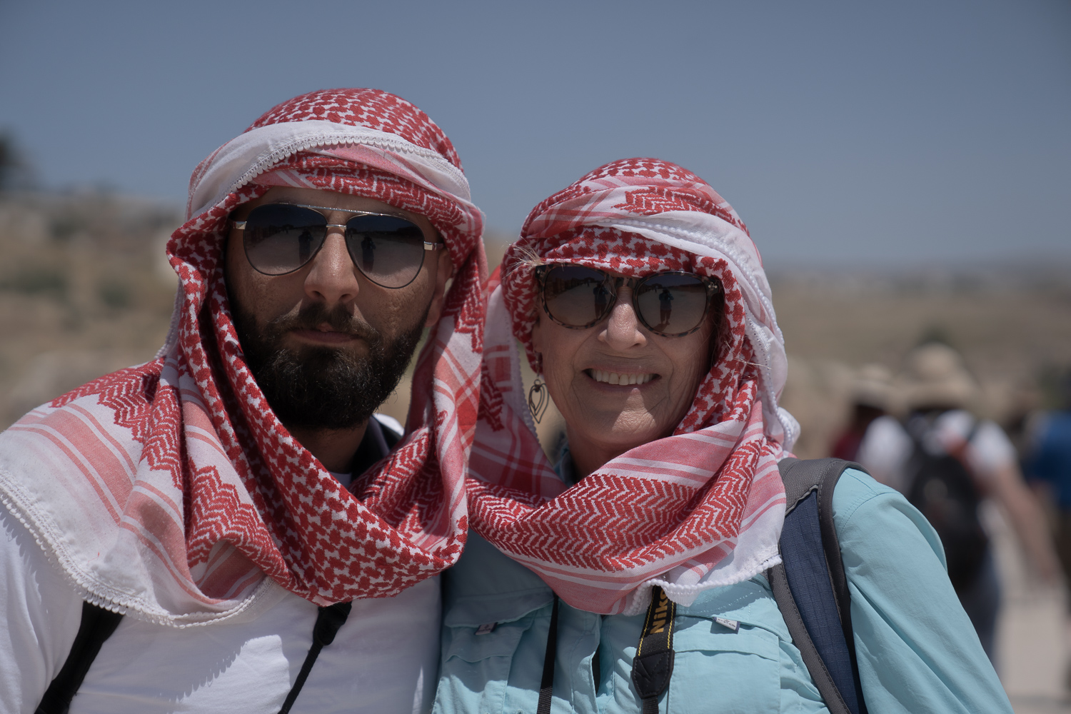 Salam and Kathy Sindorf, Jerash, North of Amman, Jordan, inhabited since the Bronze age.