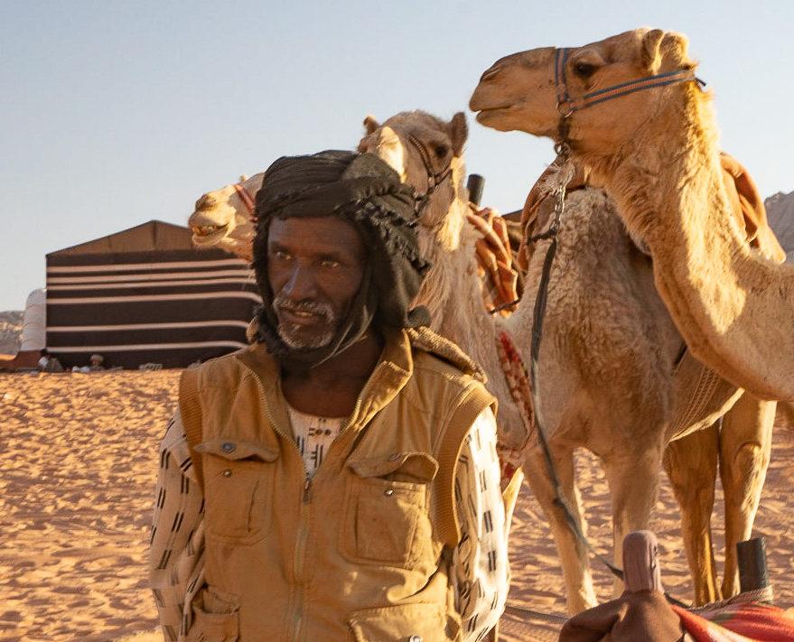 Shepard at Wadi Rum, Jordan